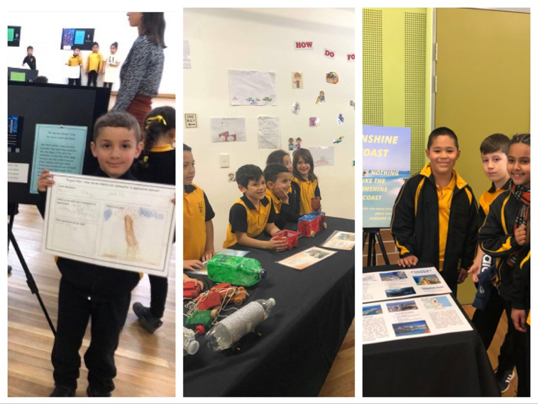 students at their pbl exhibitions